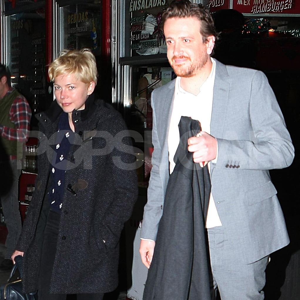 Jason Segel and Michelle Williams had a dinner date at La Esquina in NYC.