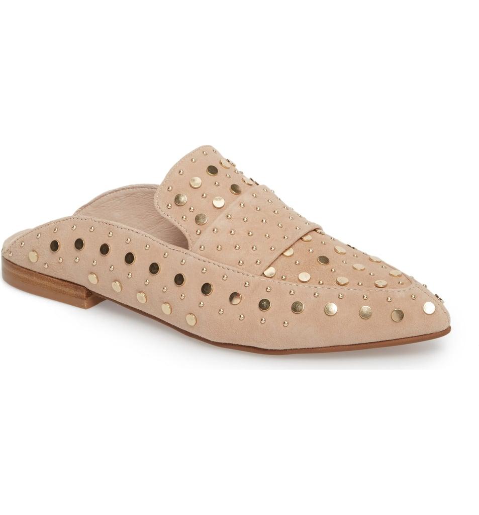 fb2413f7b14 Kristin Cavallari Charlie Studded Loafer Mules. Share This Link