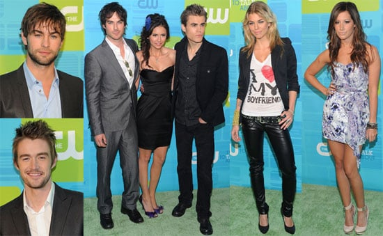 Pictures of Chace Crawford, Nina Dobrev, Paul Wesley, and Ian Somerhalder at The CW Upfront Event