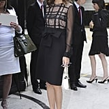 Hitting Paris Fashion Week in ultrachic Valentino in 2011.