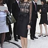 Hitting Paris Fashion Week in ultrachic Valentino in 2011.