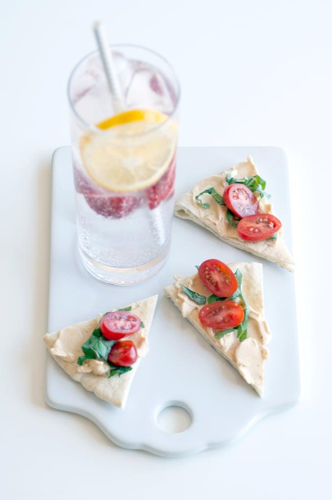 Strawberry Lemon Spritzer + Smoked Red Pepper Mozzarella Pitas