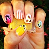 This nail art encompasses everything there is to love about Summer.  Source: Instagram user hazelfirth