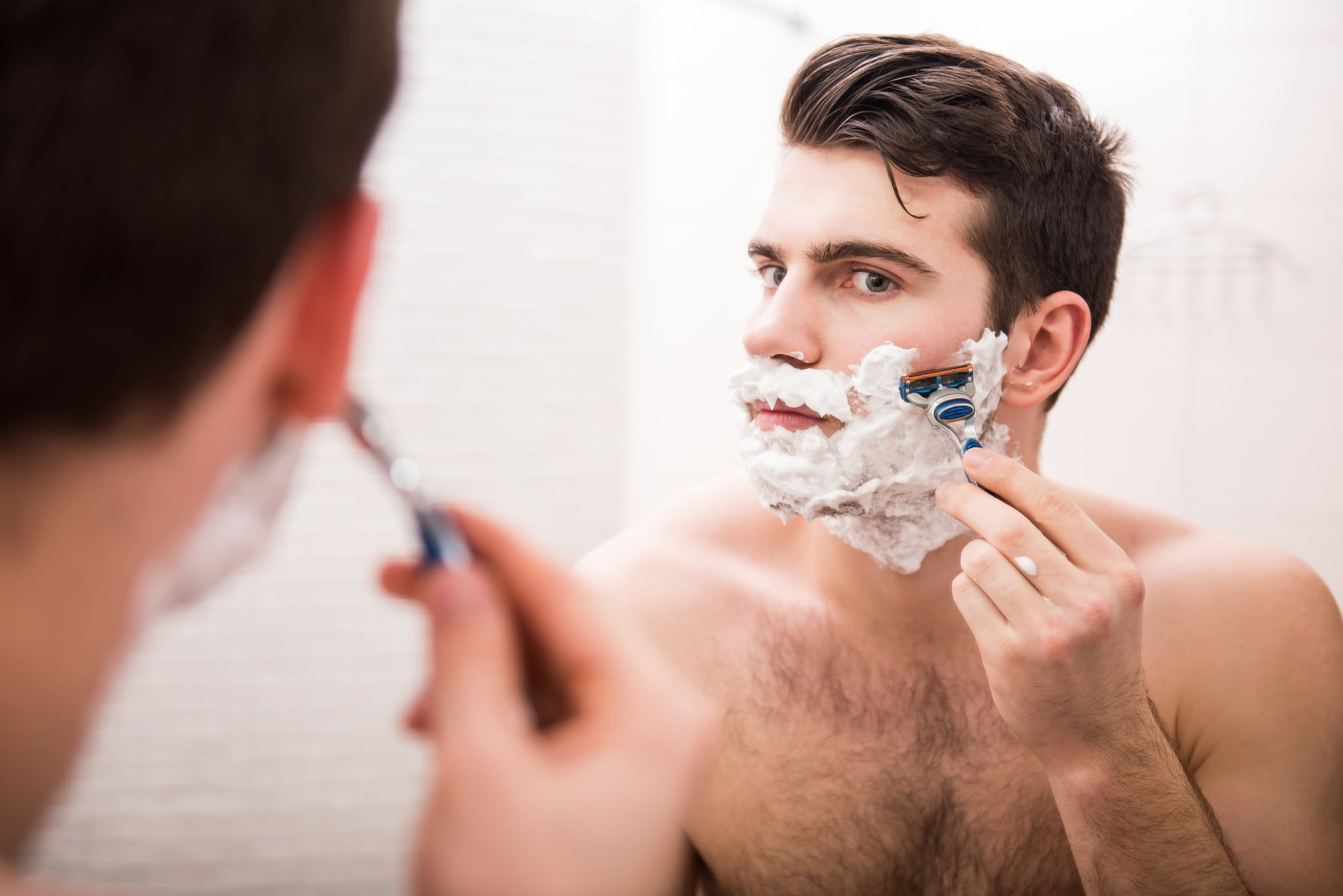 Image result for Cleansing. Before you start cleansing, make sure you get your facial hair trimmed or shaved first