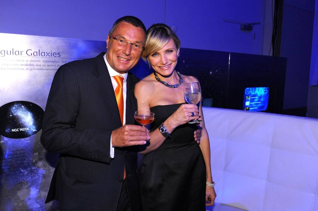Cameron Diaz had champagne with the head of Tag Heuer.