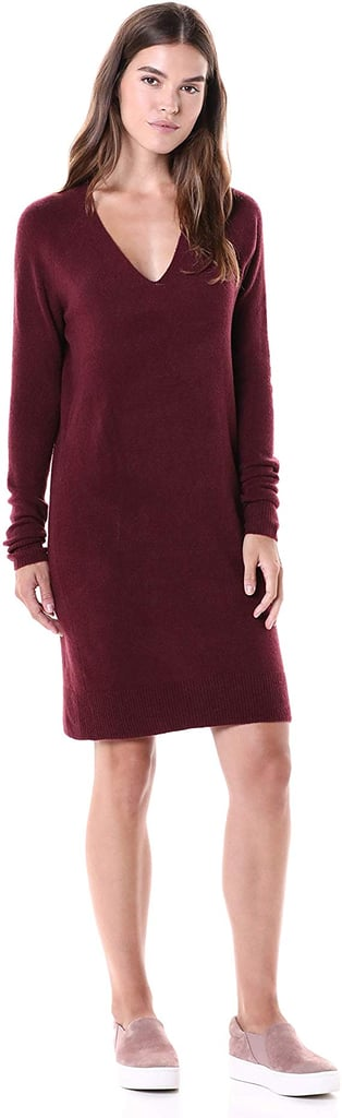 Daily Ritual Mid-Gauge Stretch V-Neck Sweater Dress