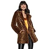 Nine West Faux-Fur Long Coat