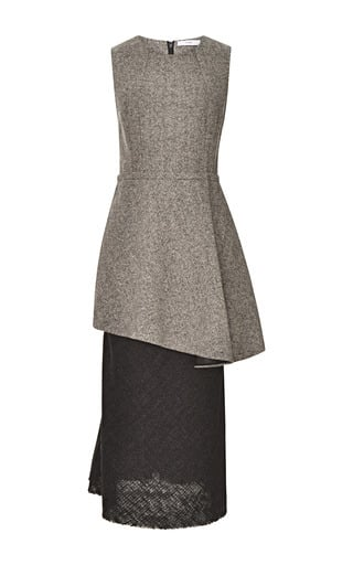 Kate Middleton Wearing Gray Peplum Dress Popsugar Fashion