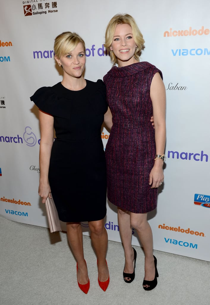 Reese Witherspoon and Elizabeth Banks were honored at the March of Dimes Celebration of Babies luncheon in LA.