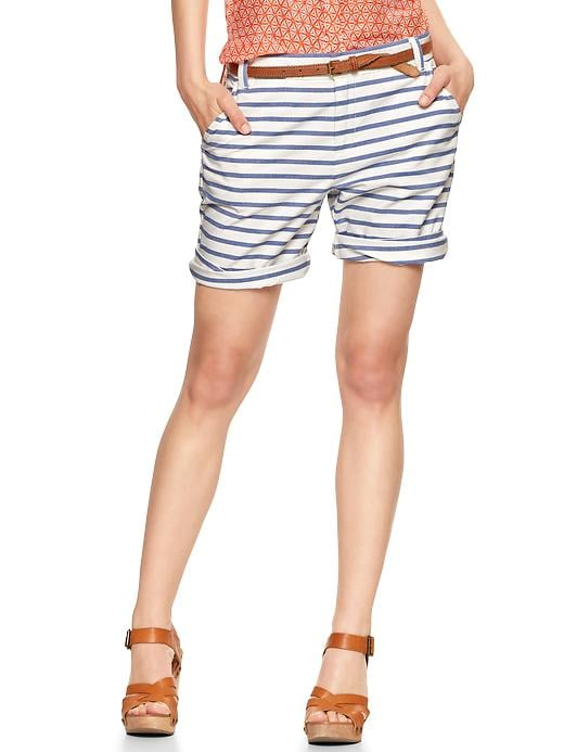 Stripes are a classic and one of my go-to prints, plus I love boyish silhouettes, so these Gap striped boyfriend roll-up shorts ($45) will be in heavy rotation. That price tag is pretty sweet, too.  — Melody Nazarian