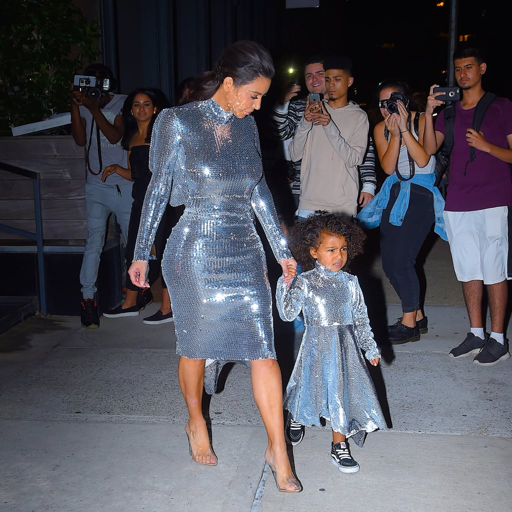 Kim Kardashian And North West In Matching Vetements