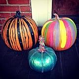 Bedazzled Teal Pumpkin