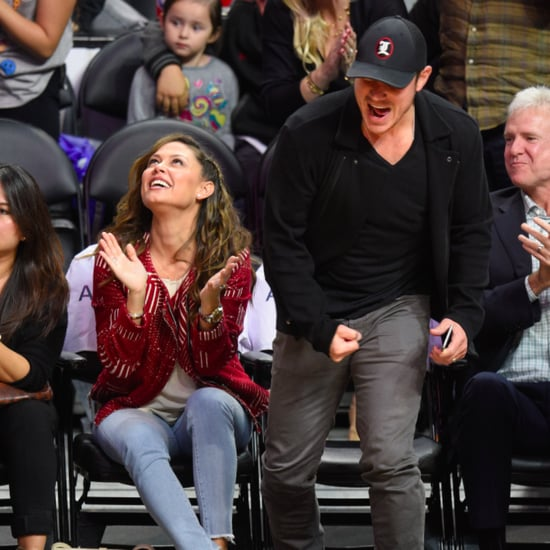 Nick and Vanessa Lachey at Clippers Game March 2016