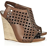 A wicked wicker detail and solid wooden wedge.  Proenza Schouler Wicker Sandals ($477, originally $795)