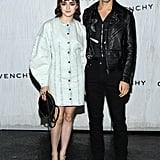 Maisie Williams and Reuben Selby at Givenchy's Paris Fashion Week Show