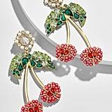 BaubleBar Cherry Gem Drop Earrings