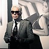 Karl's Tweed Suit Jacket Was on Point