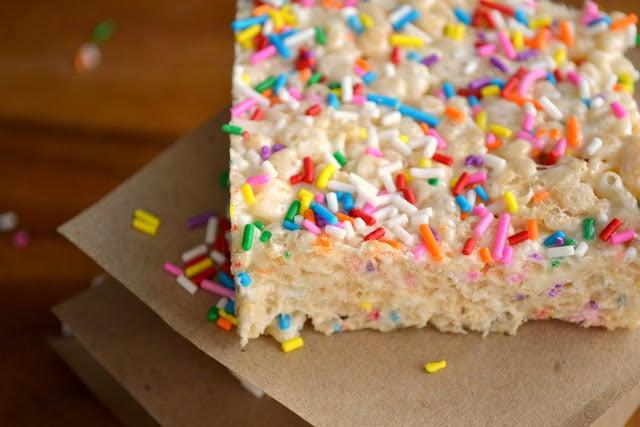 Funfetti Rice Krispies Treats