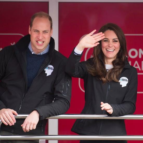 Famille Royale au Marathon de Londres Avril 2017