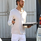 Adam Shulman joined wife Anne Hathaway for lunch in LA on Tuesday.