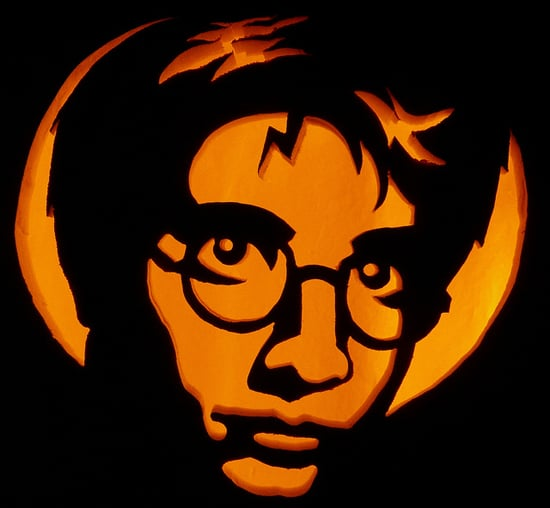 Harry potter pumpkins for halloween popsugar entertainment for Harry potter pumpkin carving templates