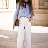 Dressed down with a chambray top