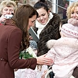 Kate Middleton wrapped up a day in Liverpool.