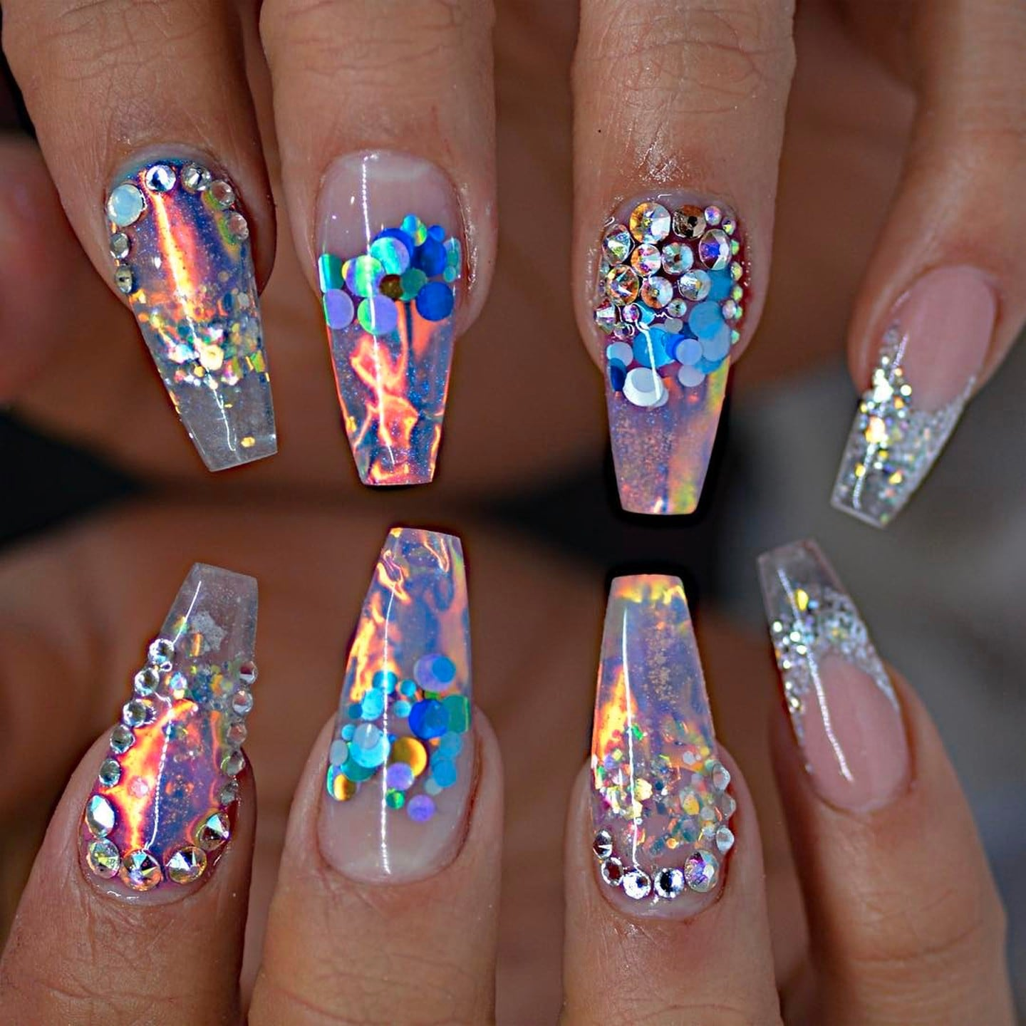 Fire and Ice Nails | POPSUGAR Beauty