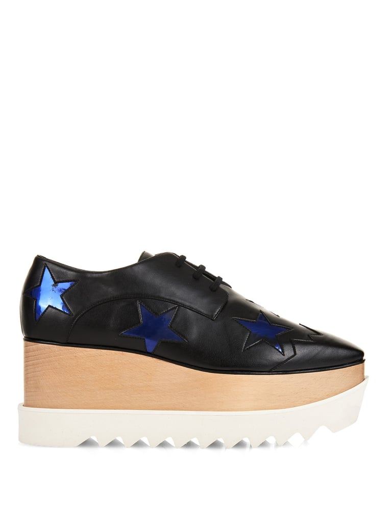 Stella McCartney Elyse lace-up platform shoes ($882)