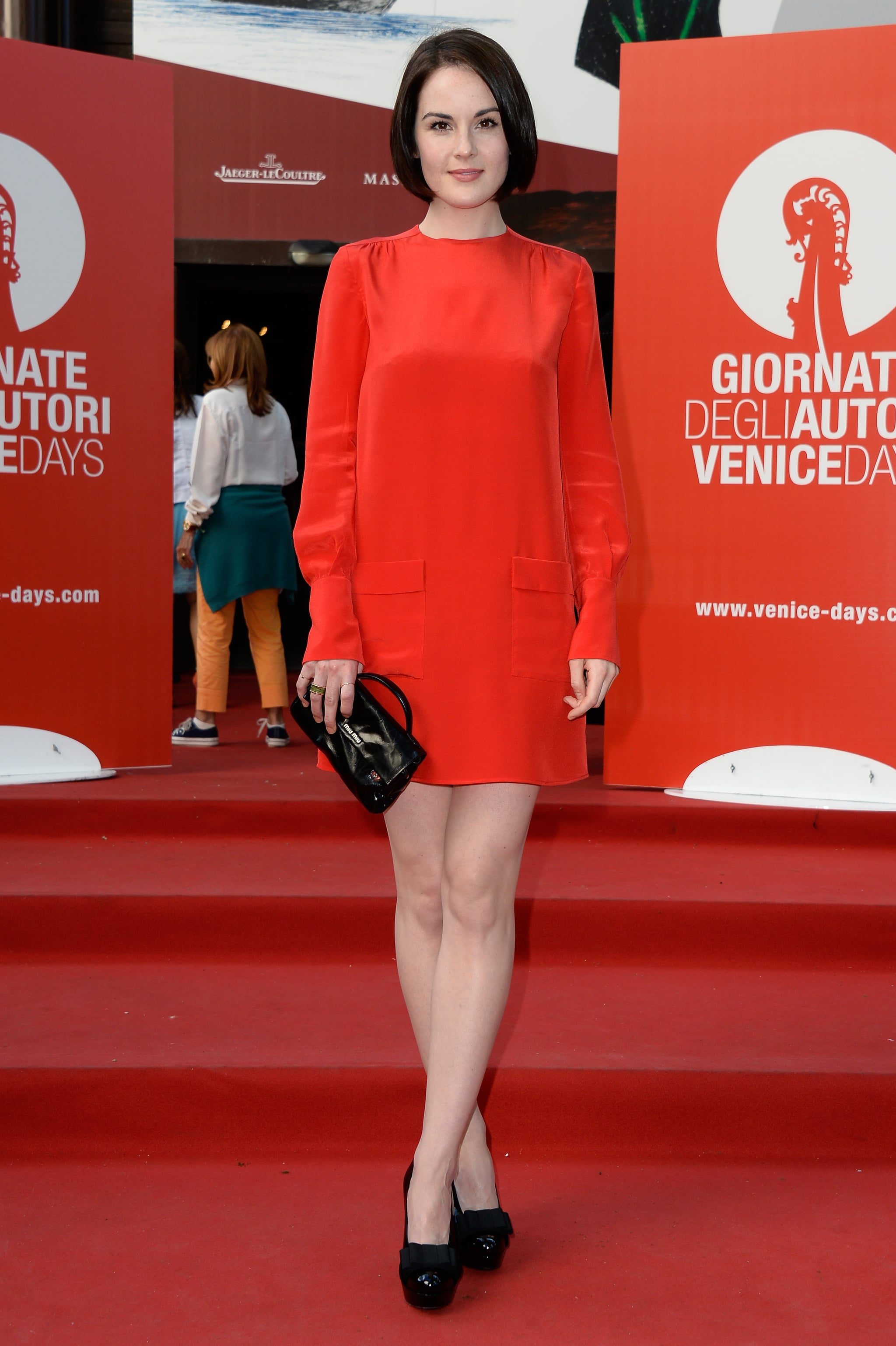 Michelle Dockery attended the Miu Miu Women's Tales premiere during the Venice Film Festival.