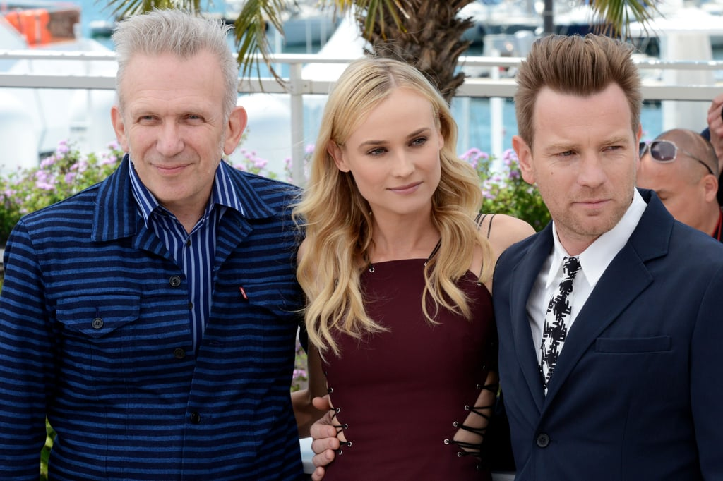 Jean Paul Gaultier, Diane Kruger, and Ewan McGregor were arm in arm for photographs at the jury photocall for the Cannes Film Festival.
