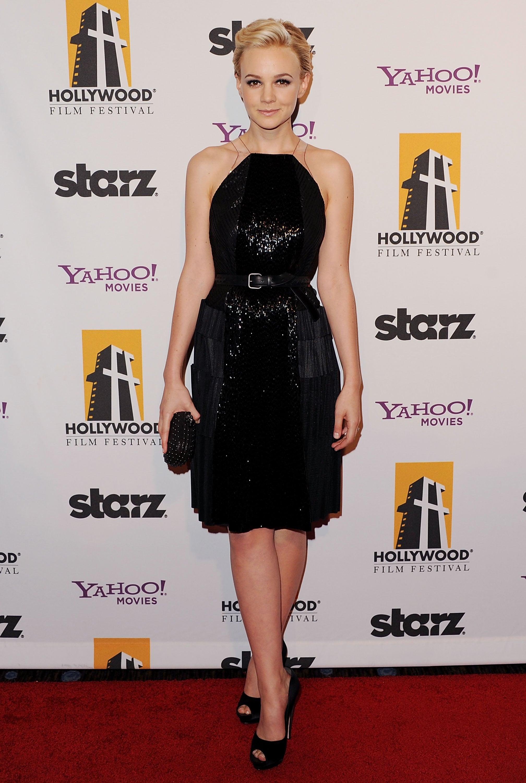 Carey Mulligan in Fringed Bottega Veneta at the 2011 Hollywood Film Awards Gala