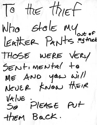 Lost! Leather Pants