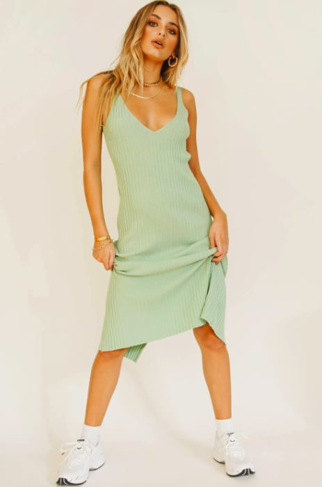 Verge Girl Sipping Cocktails Knit Midi Dress ($99)