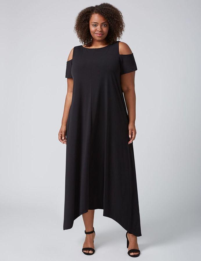 cold-shoulder maxi dress | lane bryant fall 2017 | popsugar