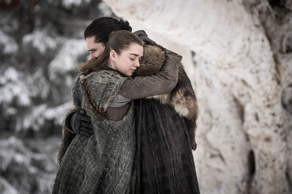 "Over eight seasons, Game of Thrones fans have witnessed Arya Stark's transition from a young lady of Winterfell begrudgingly enduring stitching classes with Sansa to a skilled assassin with a kill list. The first step in Arya becoming her true self can be traced back to when Jon Snow gifts her with Needle, her sword, in the series premiere. Before declaring for the Night's Watch and heading to the Wall, Jon has the skinny weapon made for his youngest sister, who is also heading on a journey to King's Landing with Ned Stark. ""Sansa can keep her sewing needles; I've got a needle of my own,"" Arya says before naming her beloved weapon Needle. ""First lesson: stick them with the pointy end,"" Jon quips. Jon might not know it at the time, but gifting Arya the thin weapon sets her up to fulfill her destiny, and she is eternally grateful. After everything she goes through after escaping the Red Keep in season one, Needle is by her side. Well, it is briefly stolen by Polliver in Harrenhal and hidden during her time with the Faceless Men, but Needle is Arya's true connection to the Stark family throughout her time away from them — and she refuses to let it go. Not to mention, she's used it to kill a few people who stood in her way over the years. After reuniting with Gendry in the season eight premiere, she asks him to make her a new weapon with dragonglass, presumably for the highly anticipated fight against the White Walkers. Despite a new weapon coming her way and having Littlefinger's Valyrian steel dagger, Needle will always be important to Arya. Ahead, see some photos of Arya with her beloved Needle.      Related:                                                                                                           Game of Thrones: Fans Are Laughing AND Crying Over the Reunion-Packed Season Premiere"