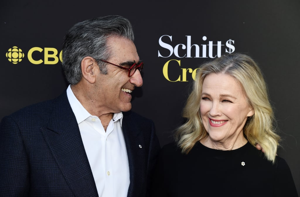 Fans of the cult-fave comedy Schitt's Creek know Eugene Levy and Catherine O'Hara as beleaguered former video store mogul Johnny Rose and his delightfully dramatic wife, Moira Rose. The CBC/POP comedy isn't the first time the duo have worked together, though. They've worked together since the 1970s (when they met as young comedians) and starred opposite each other in multiple movies, including Best in Show and For Your Consideration.  Schitt's Creek officially came to an end after its sixth season in April, but it isn't the end of Eugene and Catherine's work relationship. The two are currently working on an animated short titled The Beast, Heroes of the Wildfire. It's a sweet continuation of a decades-long friendship — check out some of their best moments together in the gallery ahead!      Related:                                                                                                           Sorry, but the Rose Family Have Nothing on Eugene, Dan, and Sarah Levy's Real-Life Bond