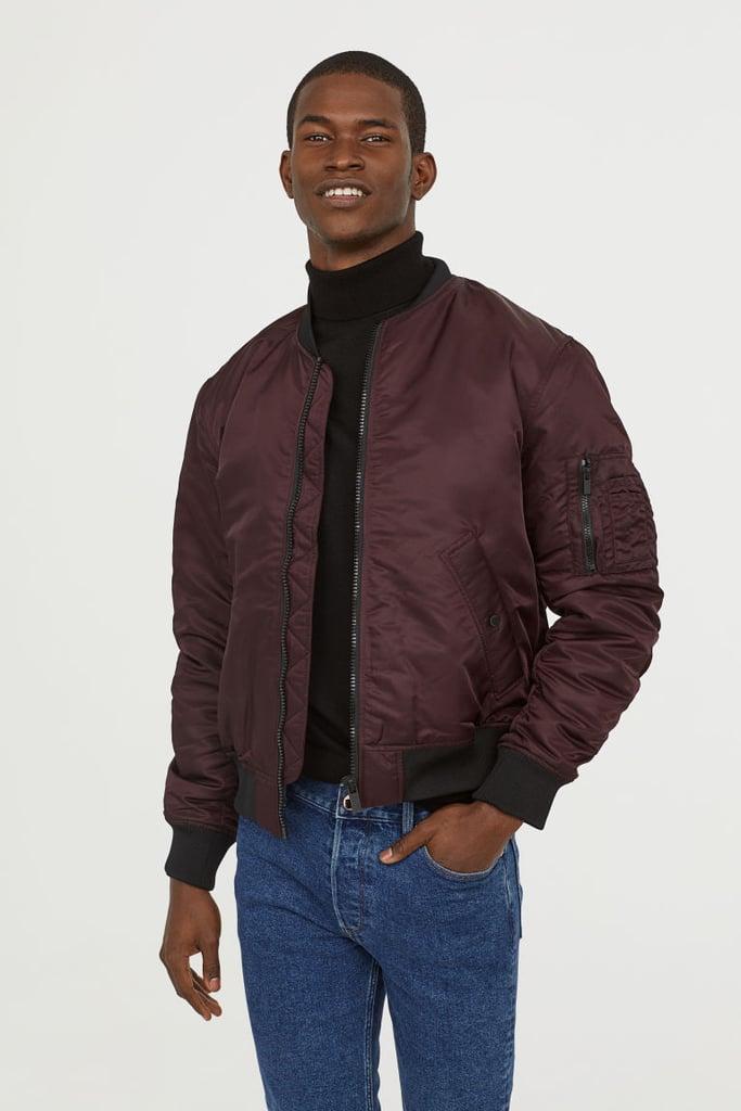 d9d54c596 H&M Padded Bomber Jacket | Best Coats For Men | POPSUGAR Fashion ...