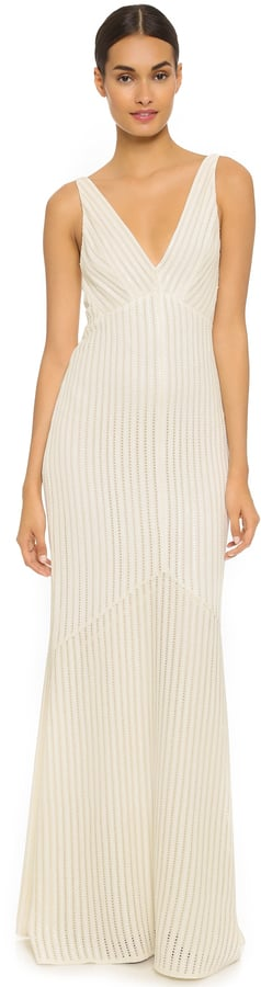 Narciso Rodriguez V-Neck Sequin Gown ($7,995)