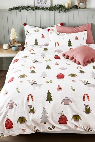 Next Brushed Cotton Festive Friends Duvet Set