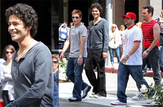 Photos of Entourage Cast Filming in Los Angeles