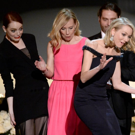 Naomi Watts Almost Face-Planted at the SAG Awards, and It Was All Emma Stone's Fault
