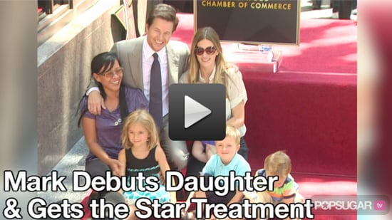 Video: Mark Wahlberg Debuts His Daughter, Thanks Ari Gold at Star Ceremony
