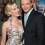 In 2005, Scarlett and Topher Grace clowned around at a Premiere magazine party.