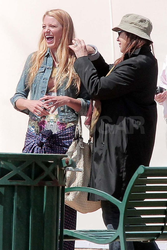 Blake Lively Breaks Out Her Sarong to Film Gossip Girl on the West Coast