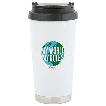 My World, My Rules Travel Mug ($23)