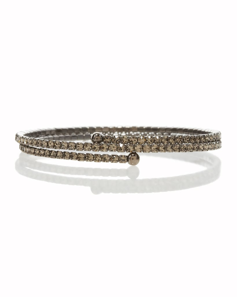 Update your arm party with a little more sparkle via this Lisa Freede Pave Wraparound Stretch Bracelet ($78).