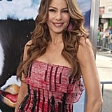 Sofia Vergara curled her hair for the Happy Feet Two premiere.