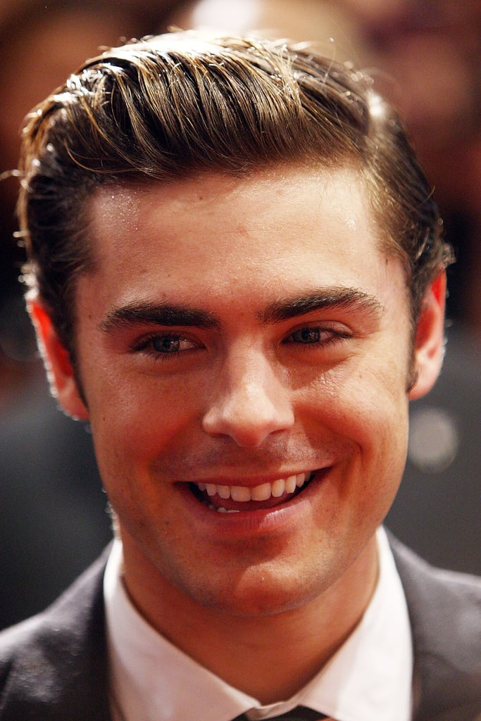 Zac Efron smiled at The Lucky One premiere in Melbourne.