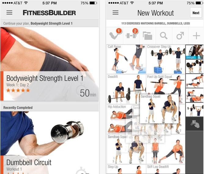 FitnessBuilder   Beste Fitness Apps für Zuhause   POPSUGAR ...